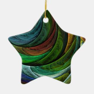 Färben Sie Ruhm-abstrakte Kunst-Stern-Verzierung Keramik Stern-Ornament