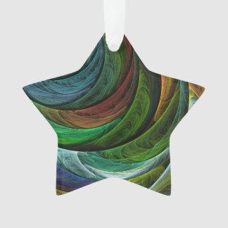 Färben Sie Ruhm-abstrakten Kunst-Acryl-Stern Ornament