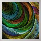 Färben Sie Ruhm-abstrakten Kunst-Druck Poster