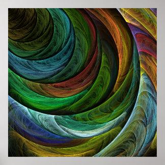 Färben Sie Ruhm-abstrakten Kunst-Druck Plakate