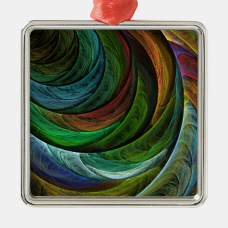 Färben Sie Ruhm-abstraktes Kunst-Quadrat Silbernes Ornament