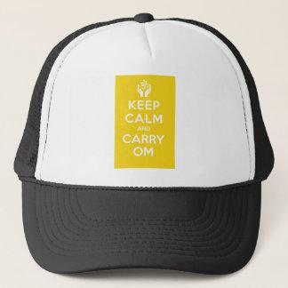 Färben Sie sich behalten ruhig und tragen OM gelb Truckerkappe