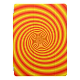 Färben Sie sich in Rot über Orangen-Spirale gelb iPad Pro Hülle