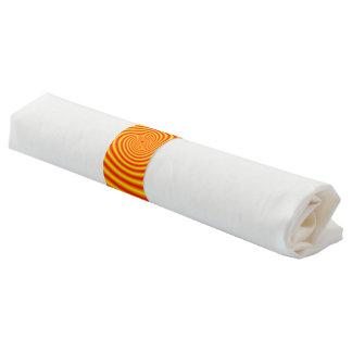 Färben Sie sich in Rot über Orangen-Spirale gelb Serviettenband