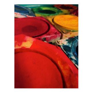 Färben Sie Tusche Postkarte