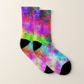 Färben Sie Verrücktheits-kleine Socken