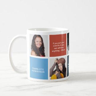 Färben Sie Zitatabsolvent-Gewohnheits-Foto der Kaffeetasse
