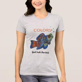 Farben sprechen louder als Wörter - Mandarinfish T-Shirt