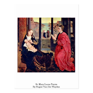 Farben St Mary Lucas durch Rogier van der Weyden Postkarte