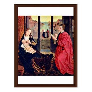 Farben St Mary Lucas durch Weyden Rogier Van Der Postkarte
