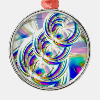 Farben und Formen Silbernes Ornament