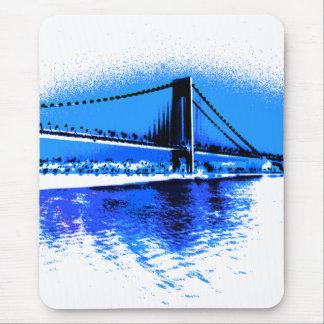 Farben von Blues-Brücke mousepad