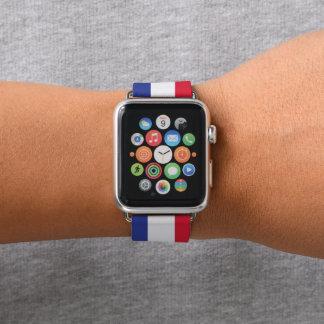 Farben von Frankreich-Flagge Apple Watch Armband