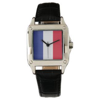 Farben von Frankreich-Flagge Uhr