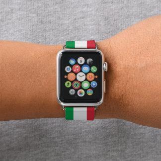 Farben von Italien-Flagge Apple Watch Armband