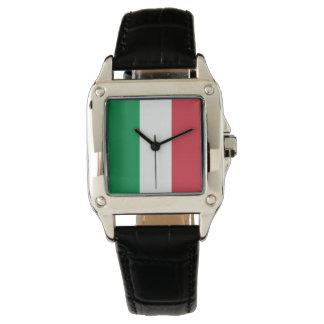 Farben von Italien-Flagge Uhr