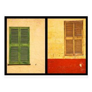 Farben von Menorca Postkarten