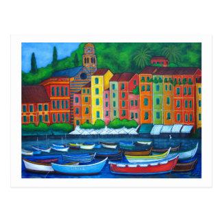 Farben von Portofino Postkarte