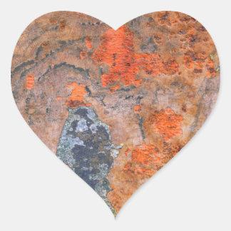 Farben von Rost 065, Rost-Kunst Herz-Aufkleber