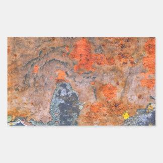Farben von Rost 065, Rost-Kunst Rechteckiger Aufkleber