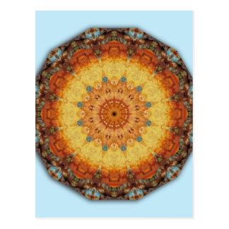 Farben von Rost 894_M, Mandala-ähnlich Postkarte