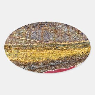Farben von Rust_729, Rost-Kunst Ovaler Aufkleber