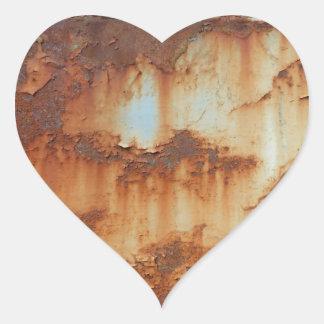 Farben von Rust_756, Rost-Kunst Herz-Aufkleber