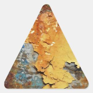 Farben von Rust_894, Rost-Kunst Dreieckiger Aufkleber