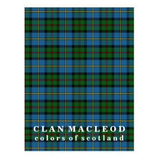 Farben von Schottland-Clan MacLeod Tartan Postkarte