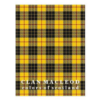 Farben von Schottland-Clan MacLeod von LewisTartan Postkarte