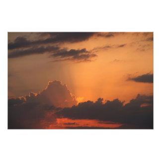 Farben von Sonnenuntergang/Auringonlaskun sävyt Fotodruck