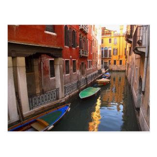 Farben von Venedig, Italien Postkarte