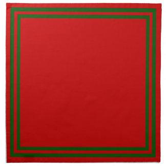 Farben von Weihnachten Serviette