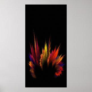 Farbenexplosion Poster