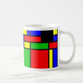 Farbenfrohes Muster Kaffeetasse