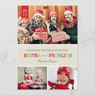 Farbenreich Foto Weihnachtskarte