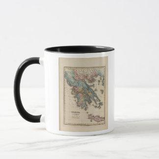 Farbenreiche Atlas-Karte Griechenlands Tasse