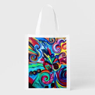 Farbexplosion Wiederverwendbare Einkaufstasche