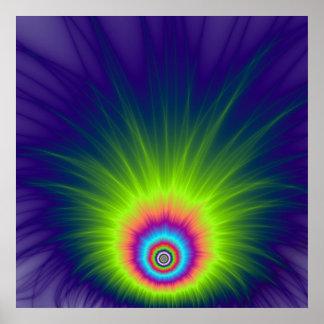 Farbexplosions-Plakat Poster