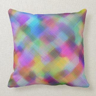 Farbflecken mit Kreuzschraffieren-Entwurf Kissen