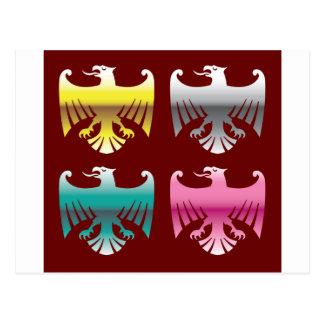 Farbglatte Chrom-Eagles-vektorkunst Postkarte