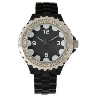 Farbhalbmond - Weiß auf Schwarzem Uhr