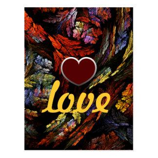 Farbharmonie-Liebe-Postkarte Postkarte