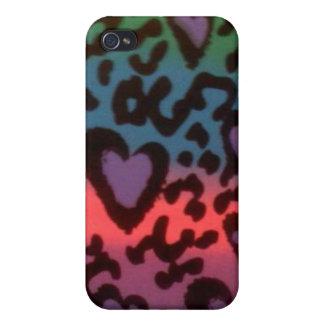 Farbherz-Speck-Kasten Schutzhülle Fürs iPhone 4
