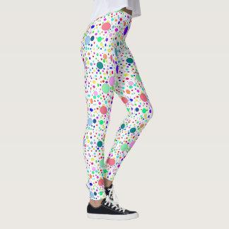 Farbige Blasen-Gamaschen Leggings