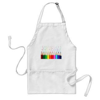 Farbige Bleistift-Kunst Schürze