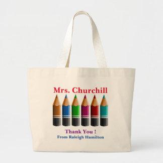 Farbige Bleistift-Lehrer-Taschen-Tasche