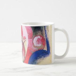 Farbige Blumen (alias abstrakte Formen) durch Kaffeetasse