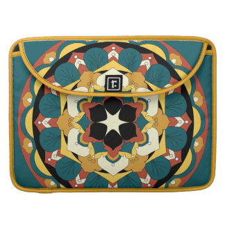 Farbige BlumenMandala 060517_4 MacBook Pro Sleeve