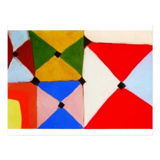 farbige fliesen abstraktes naives muster postkarte zazzle. Black Bedroom Furniture Sets. Home Design Ideas